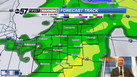 Rainy Wednesday, then another streak of sunshine